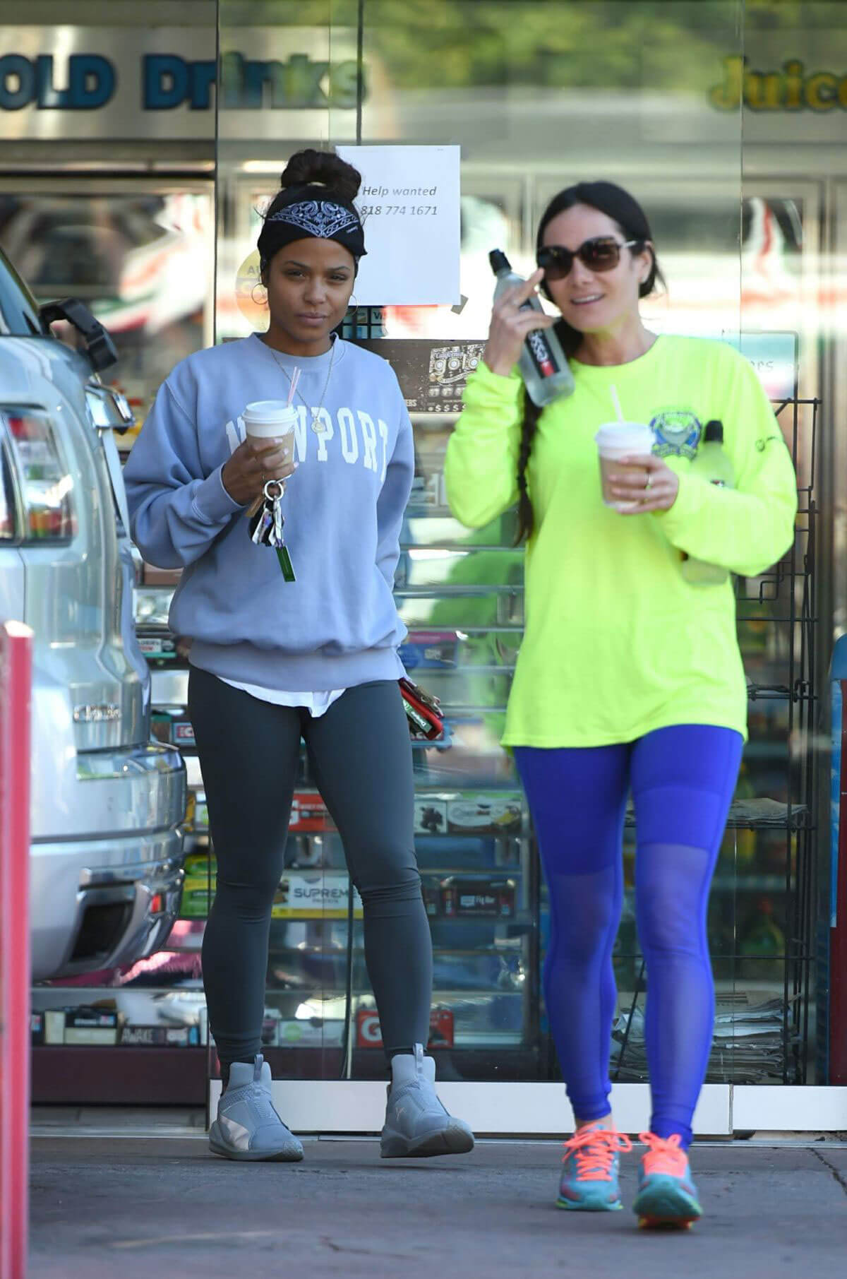 Christina Milian Stills at a Gas Station in Los Angeles