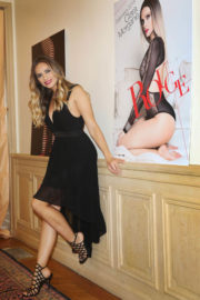Clara Morgane Stills Presents Her 2018 Calendar in Paris