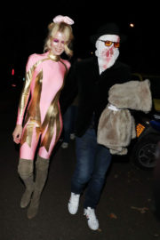 Claudia Schiffer Stills at Jonathan Ross's Halloween Party in London