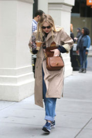 Dakota Fanning Stills Out for Iced Coffee in New York