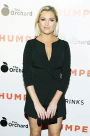 Eliza Taylor wears Black Short Dres at Thumper Premiere in Los Angeles