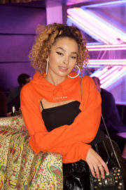Ella Eyre wears Stylish Outfit at Launch of Perception at W in London