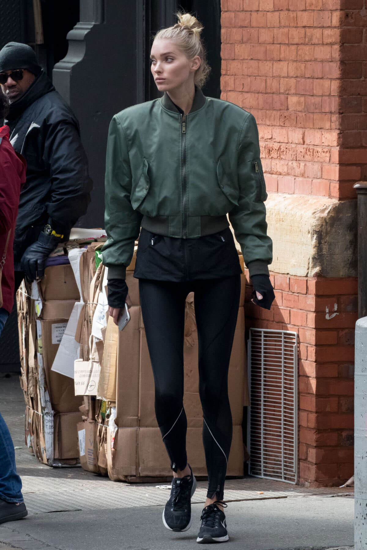 Elsa Hosk Stills Out and About in New York Images