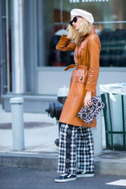 Elsa Hosk wears Stylish Outfit Stills Out in New York