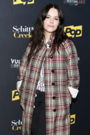 Emily Hampshire Stills at Schitt's Creek Panel at Vulture Festival in Los Angeles
