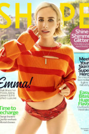 Emma Roberts Hot Poses in Shape Magazine, December 2017 Issue