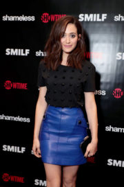 Emmy Rossum shows off beautiful legs at Shameless Fest in Los Angeles