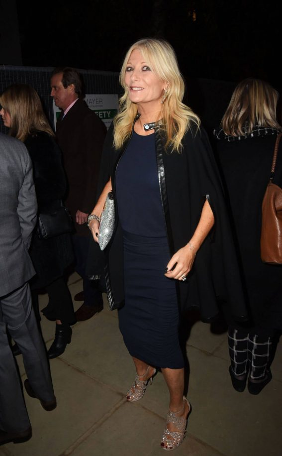 Gaby Roslin wears Navy Blue Dress at Holiday House London Launch Party