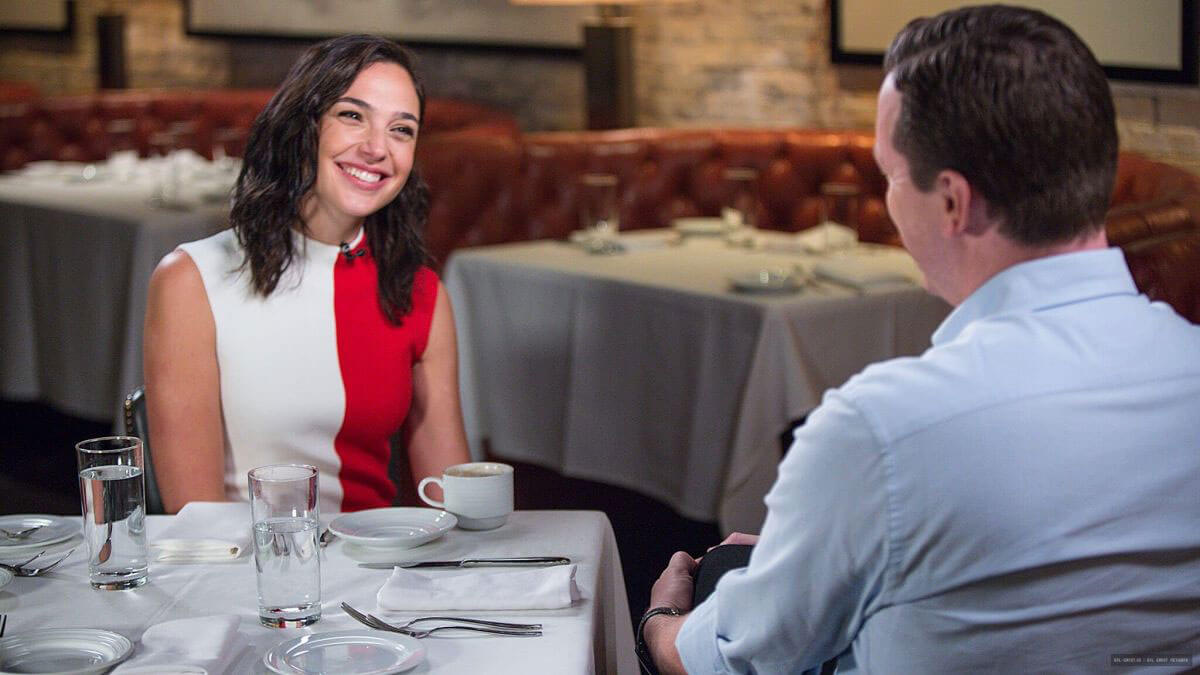 Gal Gadot Stills at Sunday Today with Willie Geist Photos
