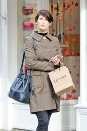 Gemma Arterton Stills Out Shopping in Marylebone in London