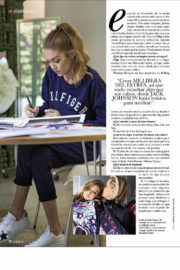 Gigi Hadid and Bella Hadid Stills in Hola Fashion Magazine, October 2017 Issue