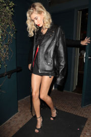 Hailey Baldwin Stills at Kendall's Jenner Birthday Party at Petite Taqueria in West Hollywood