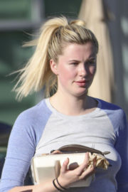 Ireland Baldwin Stills Shopping at Organic Grocery Store in Los Angeles