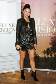 Jamillette Gaxiola shows off beautiful legs at Eden Sassoon's LA Cover Party