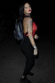 Jemma Lucy wears Bodysuit Night Out in Manchester 11/08/2017