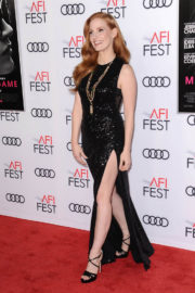 Jessica Chastain Stills at Closing Night Gala Screening of Molly's Game AFI Fest 2017 in Hollywood