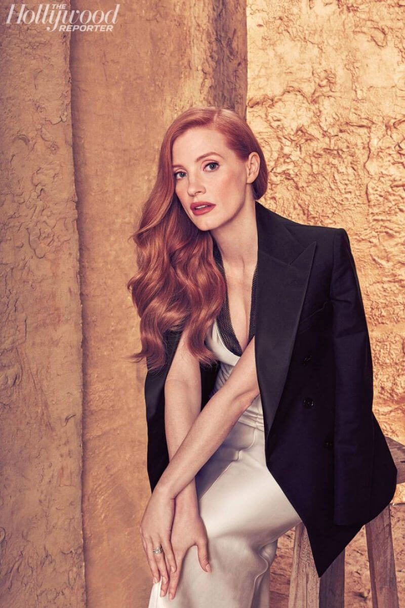 Jessica Chastain Stills in The Hollywood Reporter Roundtable, November Issue 2017
