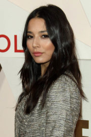 Jessica Gomes wears Long Coat without Bra at #revolveawards in Hollywood