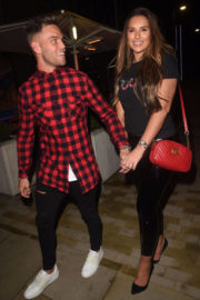 Jessica Rose and Dom Lever Stills Night Out in Manchester, November 2017