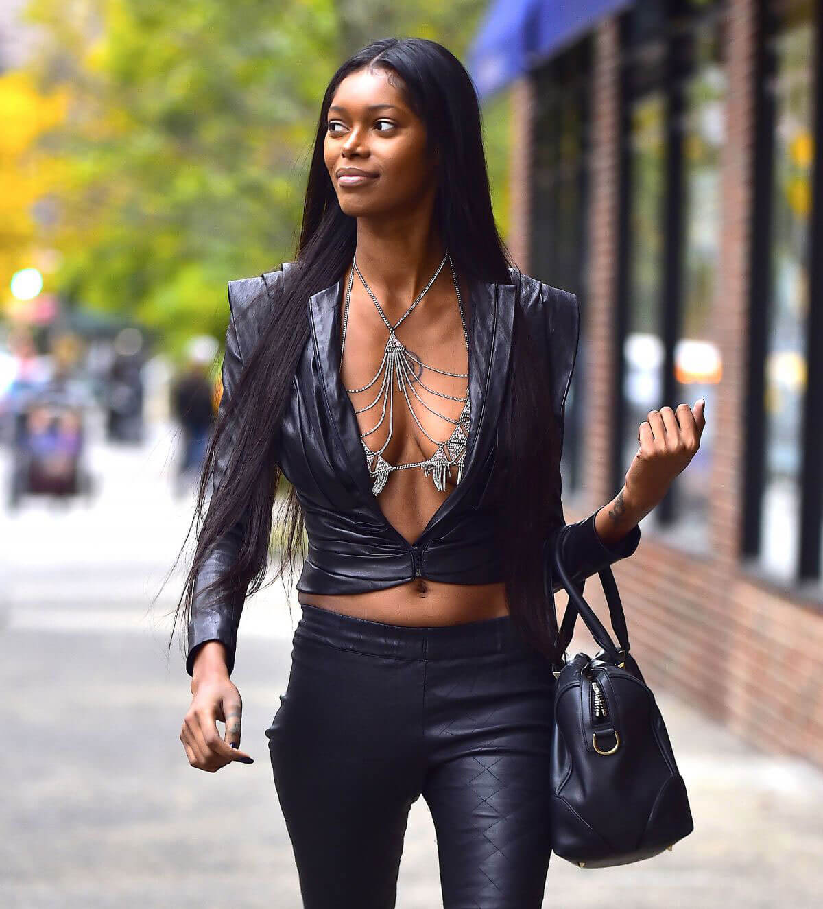 Jessica White shows off cleavage Out and About in New York