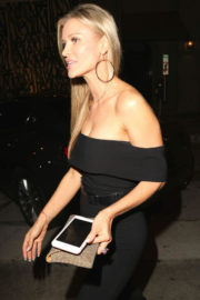 Joanna Krupa Stills Leaves David Foster's Birthday Party at Craig's in West Hollywood