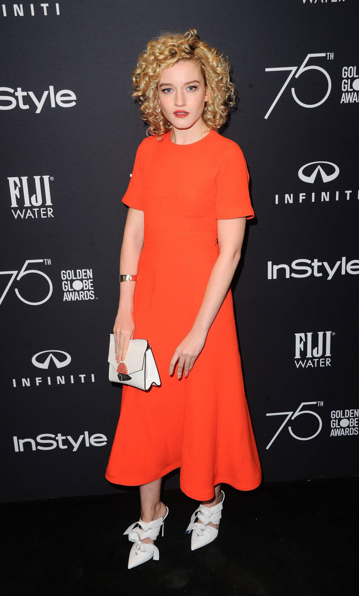 Julia Garner Stills at HFPA & Instyle Celebrate 75th Anniversary of the Golden Globes in Los Angeles