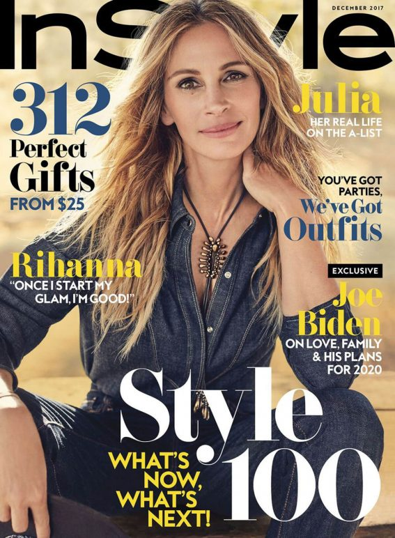 Julia Roberts Poses for Instyle Magazine, December 2017