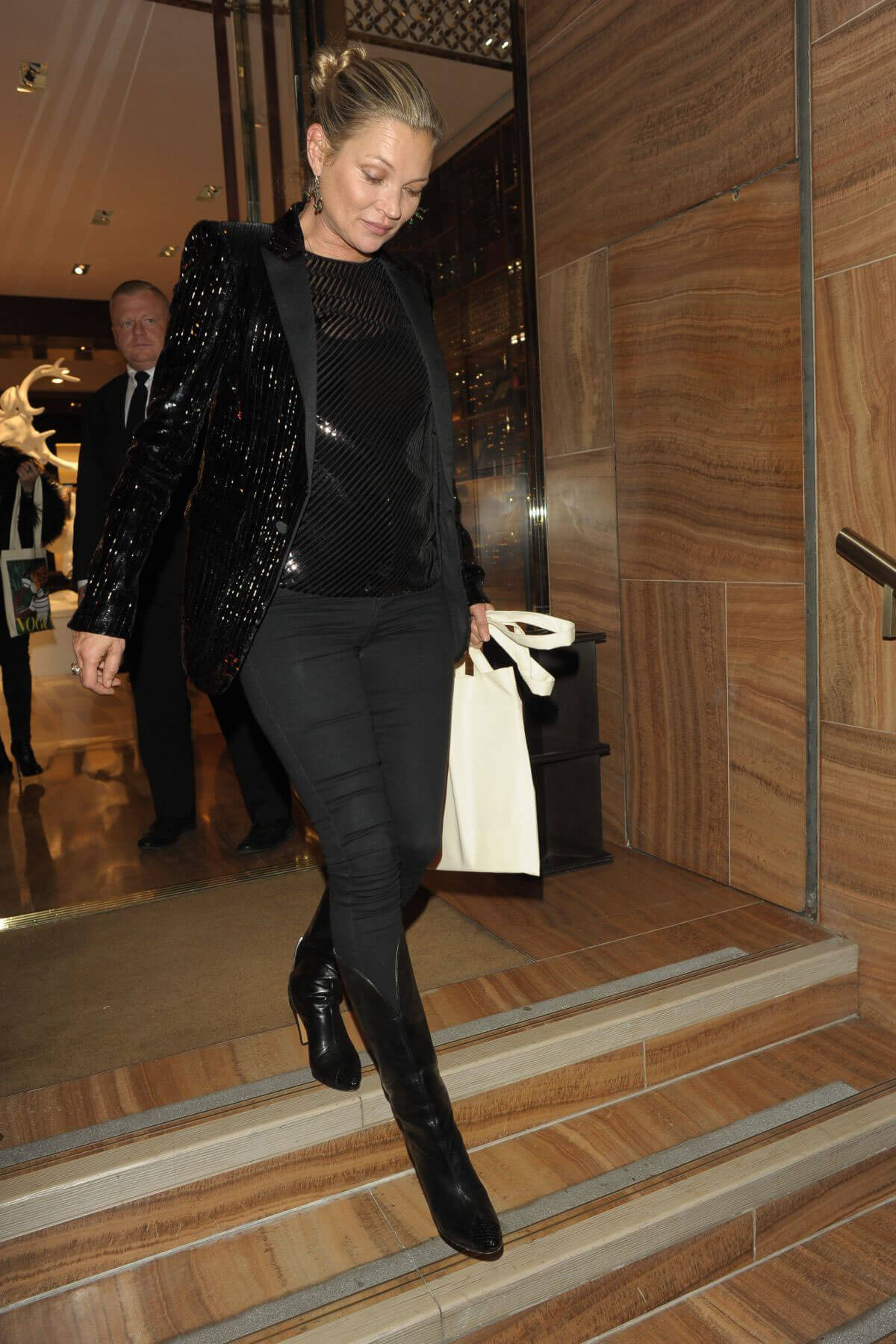Kate Moss Stills at Louis Vuitton X Vogue Party in London