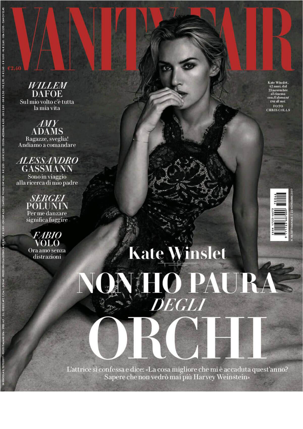 Kate Winslet Poses for Vanity Fair Magazine Italy November 2017 Issue