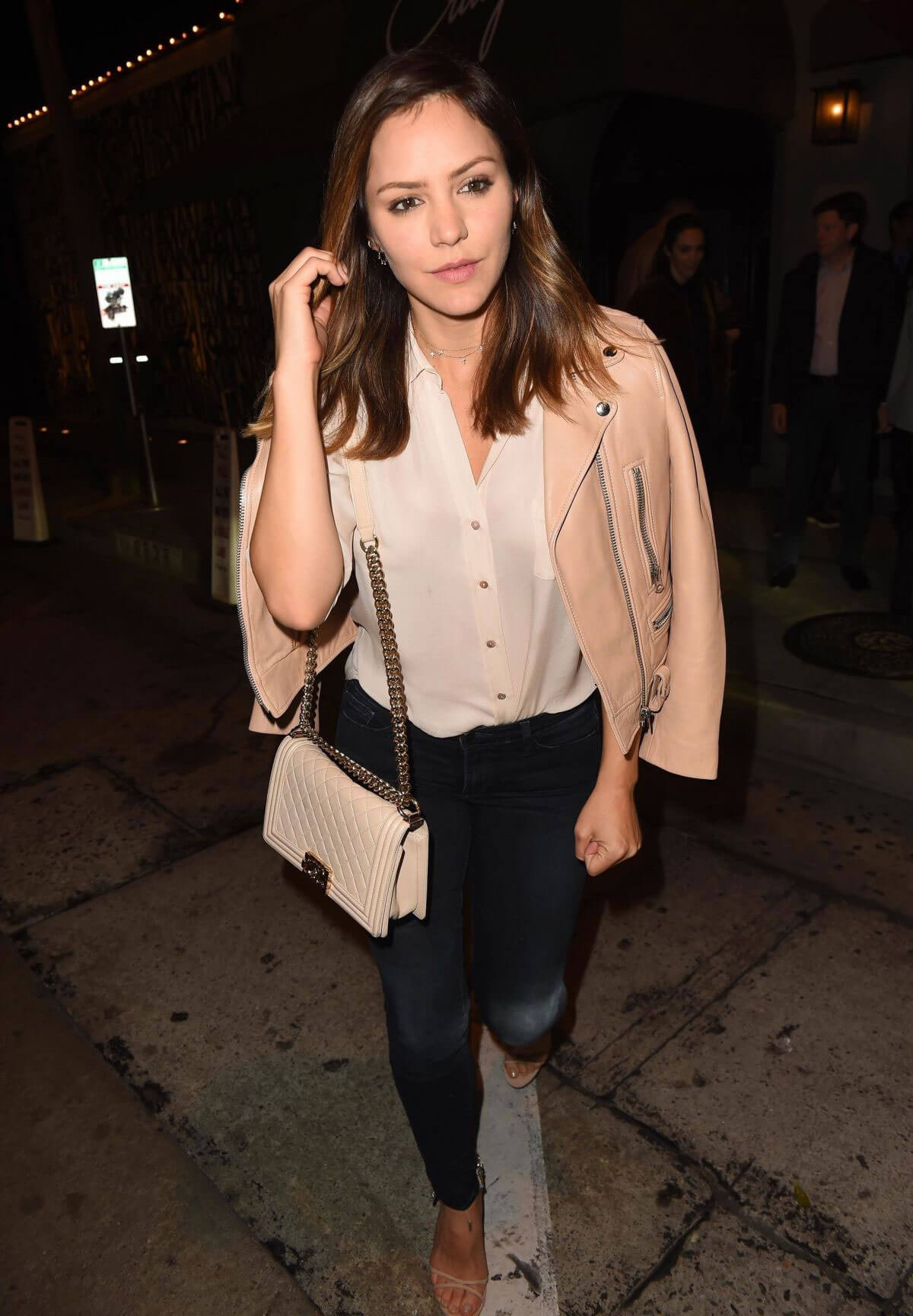 Katharine McPhee and David Foster Stills at Craig's in West Hollywood