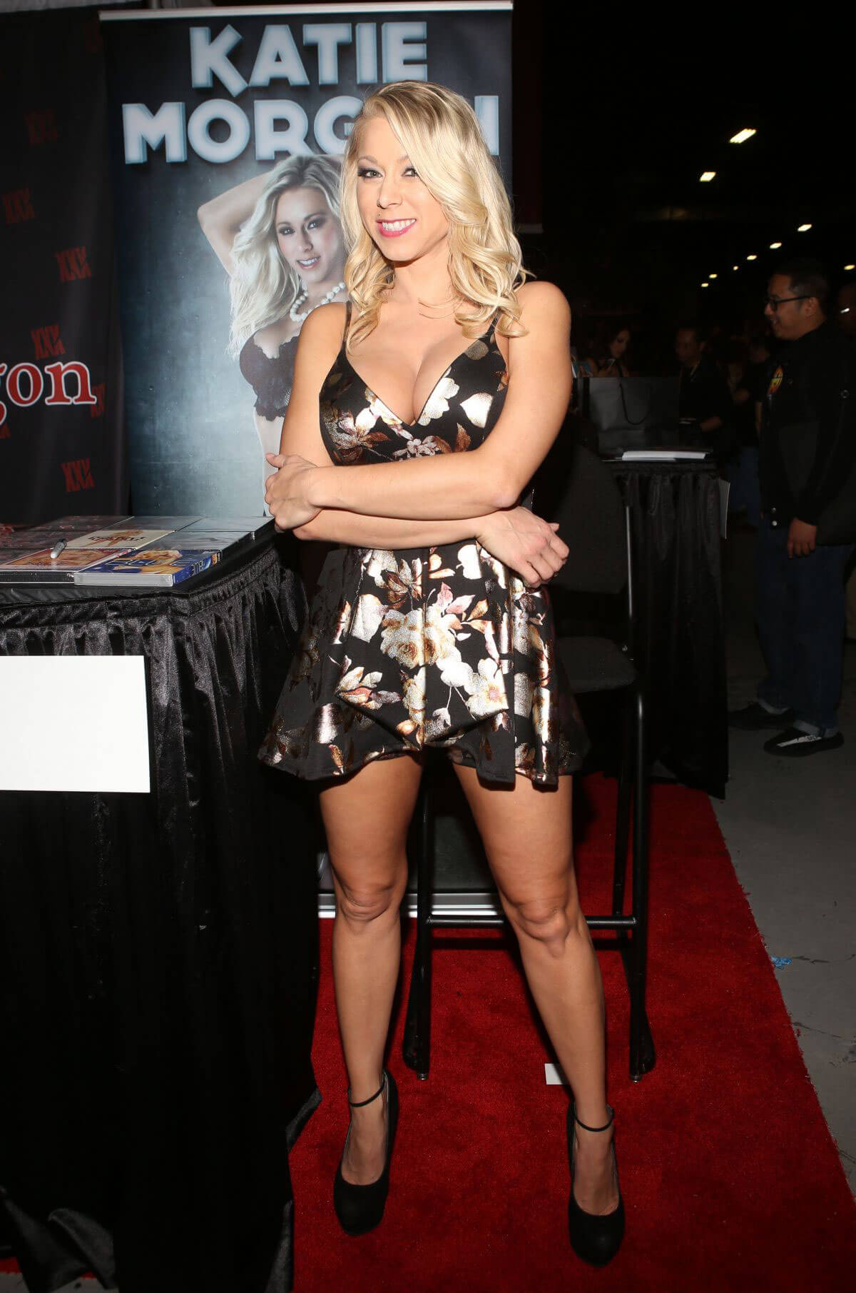 Katie Morgan wears Short Dress at Exxxotica Expo 2017 in New Jersey