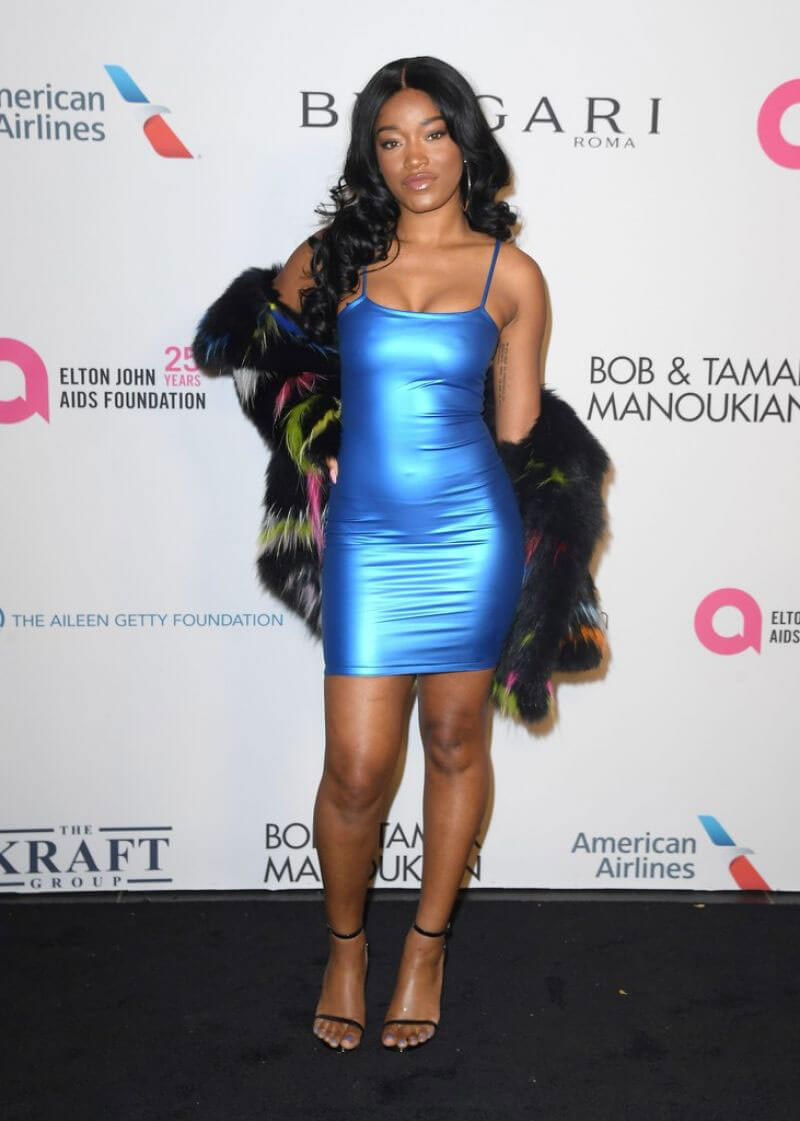 Keke Palmer Stills at Elton John Aids Foundation 25 Year Celebration in New York
