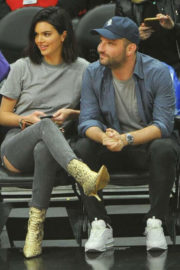 Kendall Jenner Stills at 76ers vs Clippers Game in Los Angeles