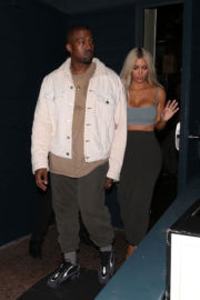 Kim Kardashian and Kanye West Stills at Kendall's Jenner Birthday Party at Petite Taqueria in West Hollywood