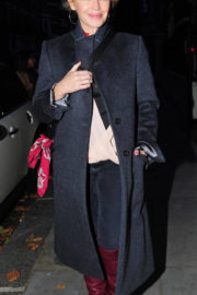 Kylie Minogue wears Winter Long Coat & Long Boots Out and About in London