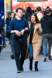 Lea Michele and Co-Star Jonathan Groff  Stills Out in New York