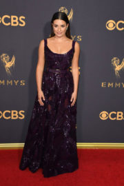 Lea Michele at 69th Annual Primetime EMMY Awards in Los Angeles