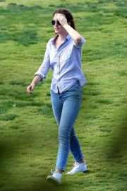 Leighton Meester at a Park in Los Angeles