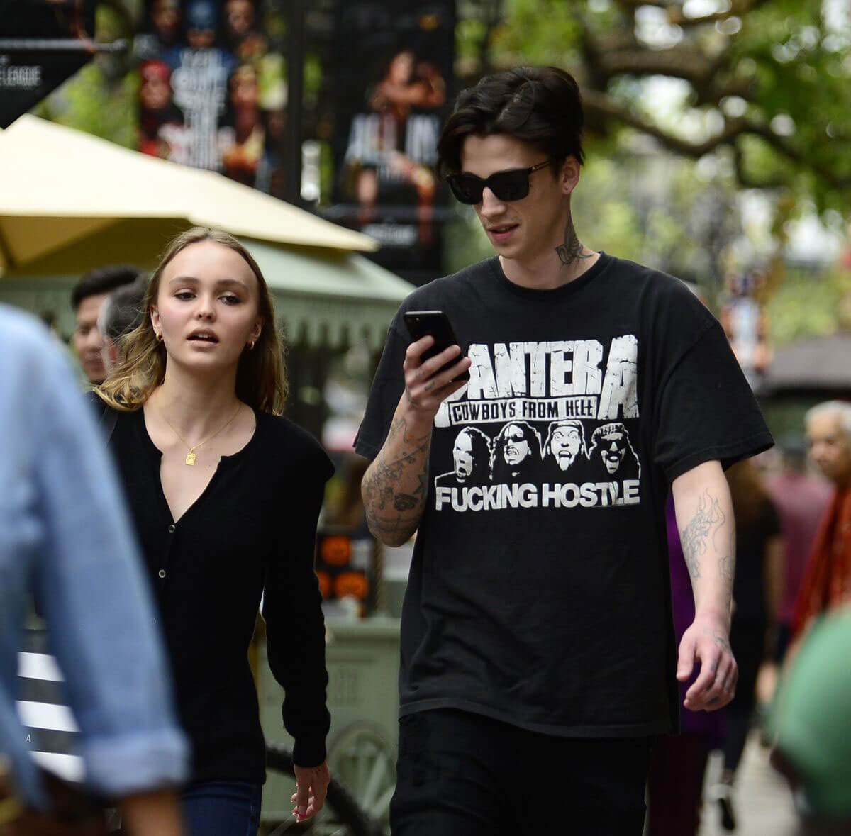 Lily-Rose Depp With Her Boyfriend Ash Stymest Shop Around