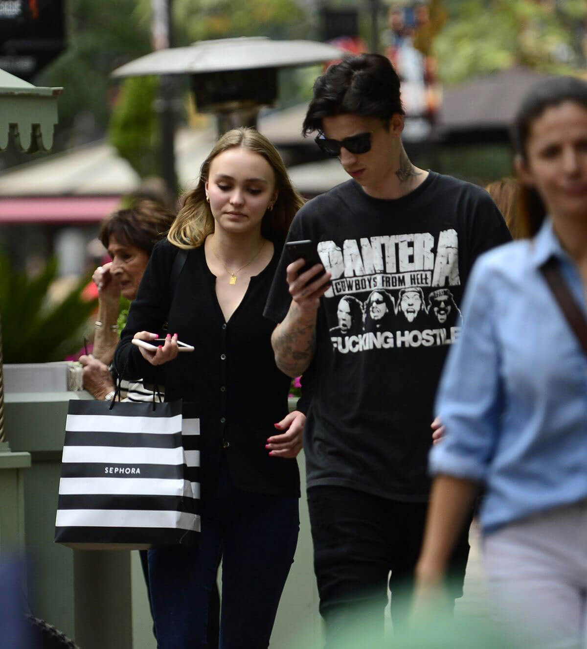 e0b8a1ad6cb Lily-Rose Depp with Her Boyfriend Ash Stymest Shop Around in Los Angeles