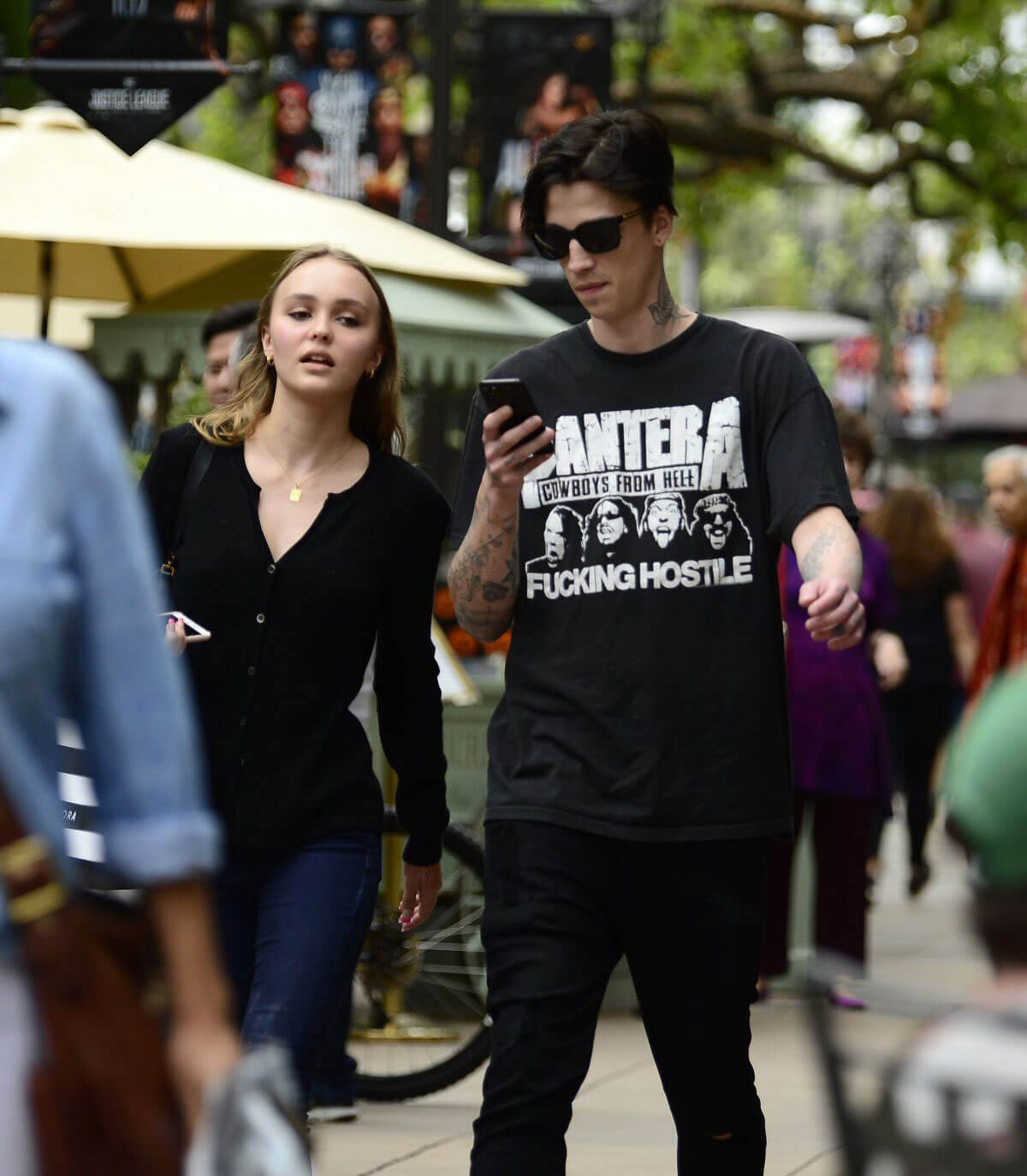 Lily-Rose Depp With Her Boyfriend Ash Stymest Shop Around In Los Angeles 137626