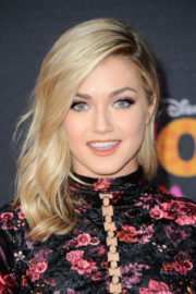Lindsay Arnold shows off Beautiful Legs in Short Dress at Coco Premiere in Los Angeles