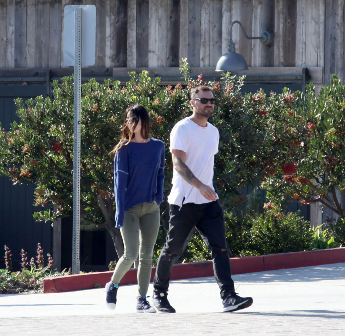Megan Fox and Brian Austin Green Stills Leaves Kristy's Restaurant in Malibu