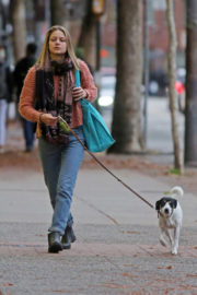 Melissa Benoist Stills Out with Her Dog in Vancouver