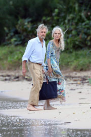 Michelle Pfeiffer Stills on the Set of Ant-man and The Wasp at a Beach in Hawaii