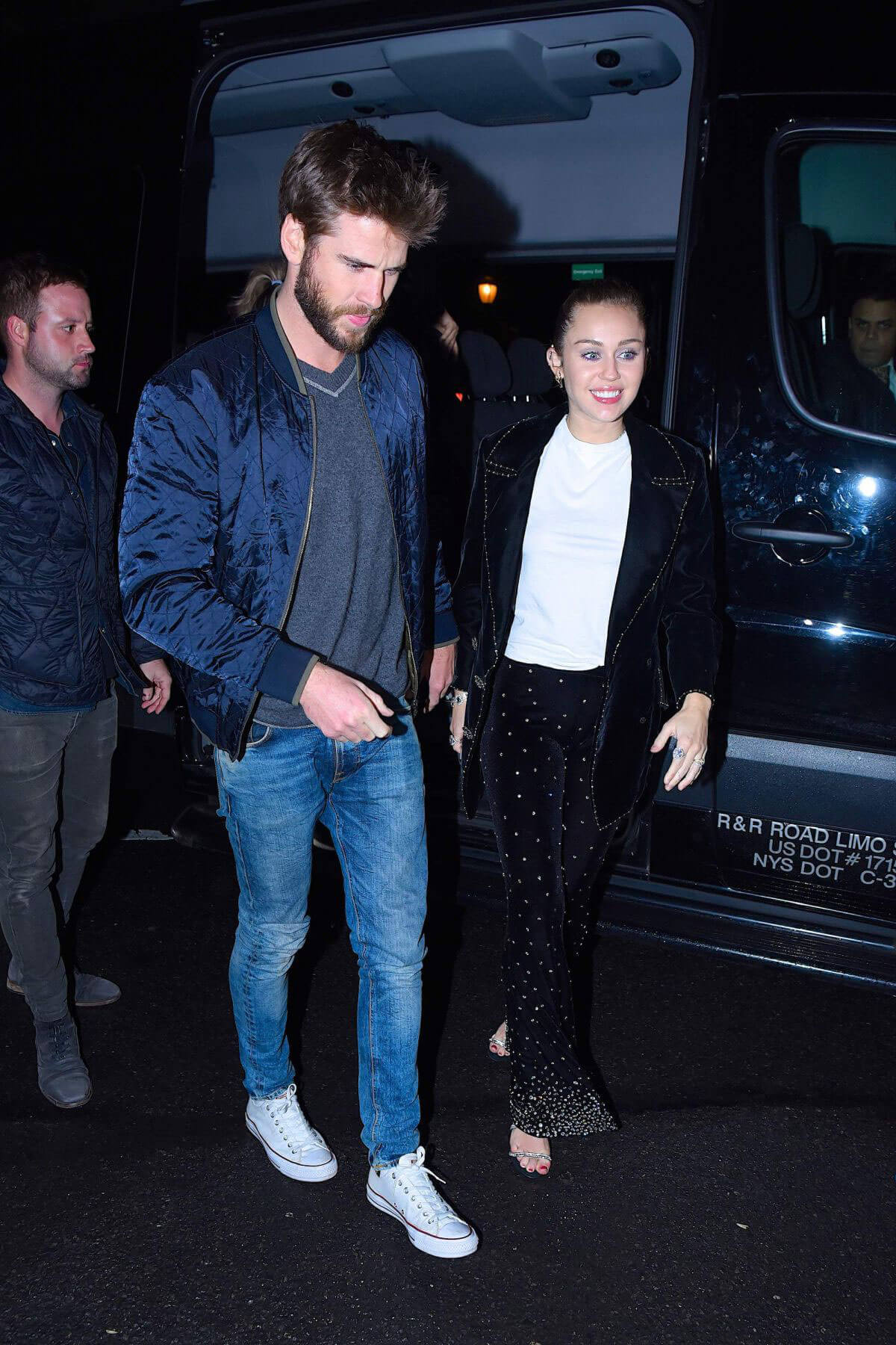 Miley Cyrus and Liam Hemsworth Stills at SNL Afterparty in New York