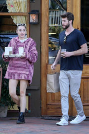 Miley Cyrus and Liam Hemsworth Stills Out for Coffee To Go in Savannah