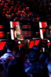 Miley Cyrus Stills at The Voice, Season 13 Live Shows 2017