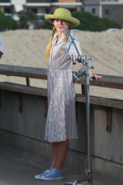 Miley Cyrus Stills on the Set of Her New Music Video in Venice