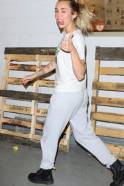Miley Cyrus Stills Outside Her Hotel in New York Images